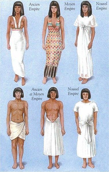 Ubiór kobiecy i męski w starożytnym Egipcie