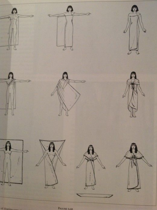 Sposób owijania tkaniną lnianą w starożytnym Egipcie