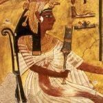 Ubiór egipski z cienkiego płótna.